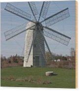Wind Mill Wood Print