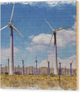 Wind Power Wood Print