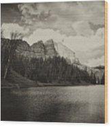 Wind River Lake Wood Print