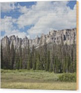 Wind River Mountains Wood Print
