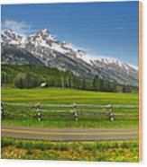 Wind River Range In West Central Wyoming - 04 Wood Print