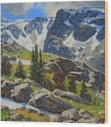 Wind River Range-wyoming Wood Print