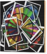 Wind Spinner Collage Wood Print