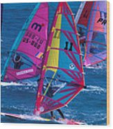 Wind Surfers In Nassau Wood Print