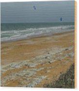 Wind Surfing In Flagler Wood Print