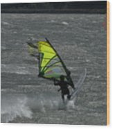 Wind Surfing On The Columbia Wood Print