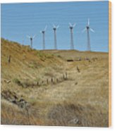 Wind Turbines Wood Print