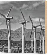 Wind Turbines Palm Springs Wood Print