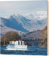 Windermere Cruise Wood Print