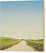 Windfarm Way Wood Print