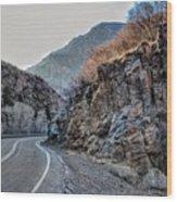 Winding Canyon Road Wood Print