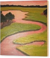 Winding River Wood Print