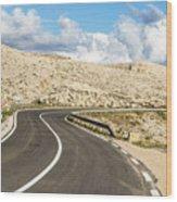 Winding Road On The Pag Island In Croatia Wood Print