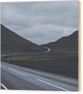 Winding Roads Wood Print