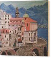 Winding Roads Of Italy Wood Print