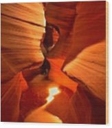 Winding Through Antelope Canyon Wood Print