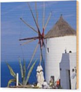 Windmill Art Wood Print