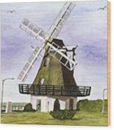Windmill At City Beach Wood Print