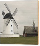 Windmill At Lytham St. Annes - England Wood Print