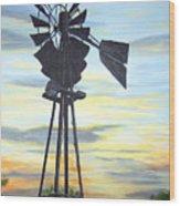 Windmill Capture The Wind Wood Print