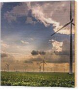 Windmill Farm Wood Print