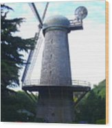 Windmill In Golden Gate Park Wood Print