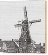 Windmill In Meppel, Holland 2016 Wood Print