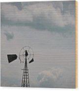 Windmill Less Blades Wood Print