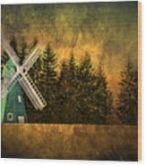 Windmill On My Mind Wood Print