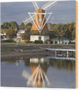 Windmill Reflections Wm2014 Wood Print