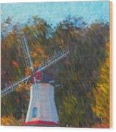 Windmill Series 1102 Wood Print