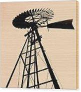 Windmill Standing Tall Wood Print