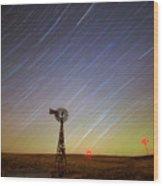 Windmills And Stars Wood Print