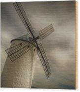Windmills At Campo De Criptana Wood Print