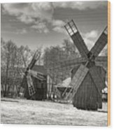 Windmills Wood Print