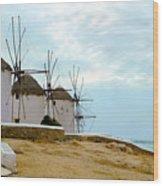 Windmills Of Mykonos I Wood Print