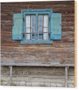 Window And Bench Wood Print