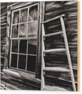 Window And Ladder Wood Print