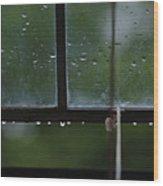 Window And Raindrops-2 Wood Print