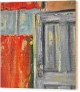 Window And The Pantry Door Wood Print