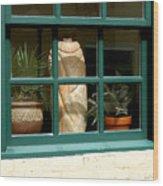 Window At Sanders Resturant Wood Print