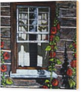 Window At Upper Canada Village Wood Print