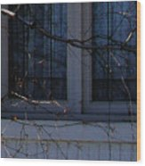 Window Blue - 2 Wood Print