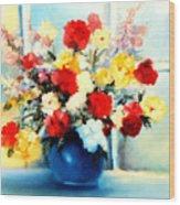 Window Bouquet Wood Print