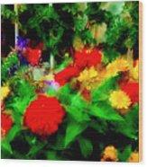 Window Box Of Flowers Wood Print