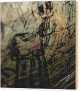Window Drawing 03 Wood Print