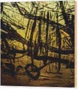 Window Drawing 06 Wood Print