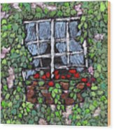 Window Flower Box Wood Print