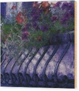 Window Flowerbox Wood Print