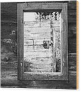 Window Frame Wood Print